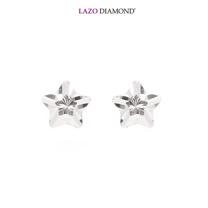 Lazo Diamond 9K White Gold Stud Earrings - 8E2496