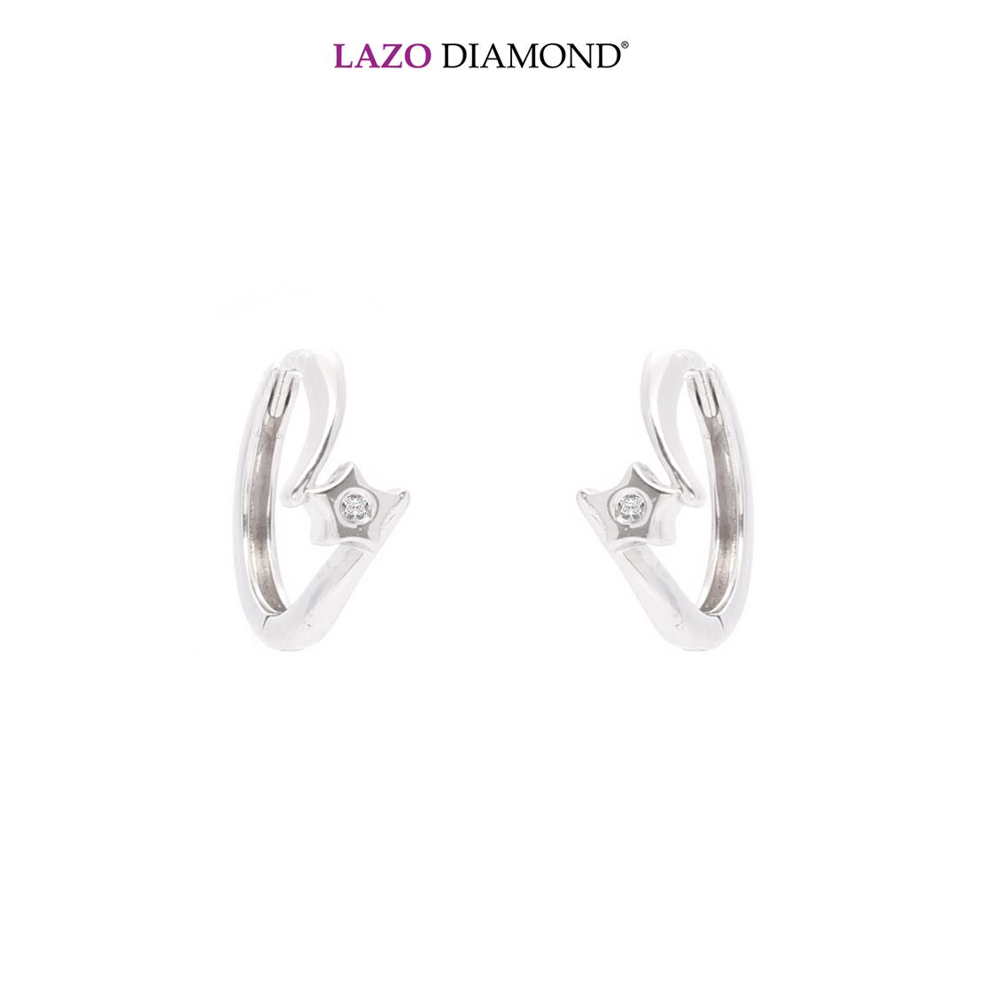 Lazo Diamond Starry 9K White Gold Diamond Earrings - DE0186