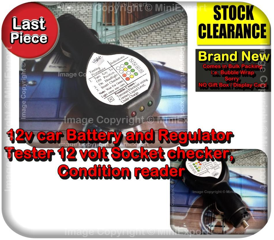 Car Voltage Regulator Testers : Led v car battery regulator test end pm