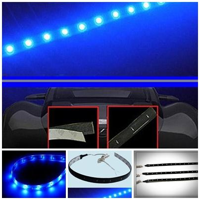 Led Lamp String Waterproof Flexible Car Strip Light 30CM - Blue