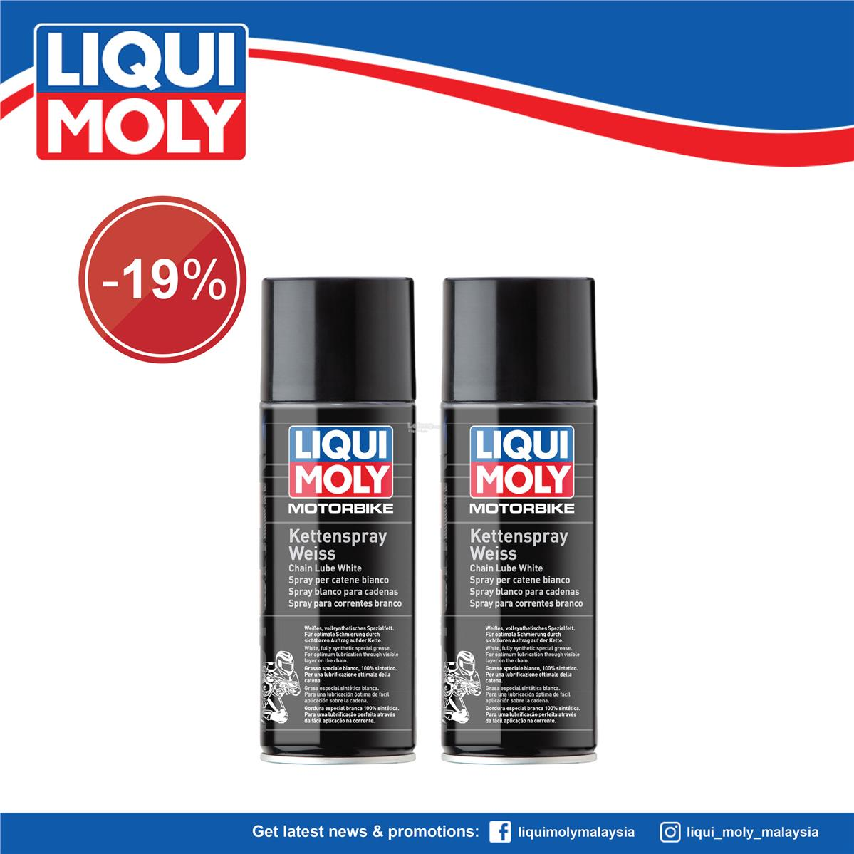 Liqui Moly Motorbike Chain Lube white 400ml, Motorbike Care 1591/1591
