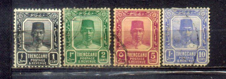 Malaya Trengganu 1921-38 Old Stamps