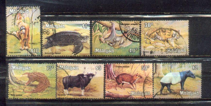 Malaysia 1979 Animals High value Dfinitive Complete Set