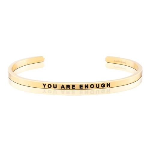 MantraBand You Are Enough Gold Bracelet