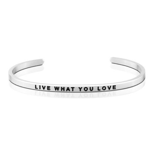 MantraBand Live What You Love Silver Bracelet