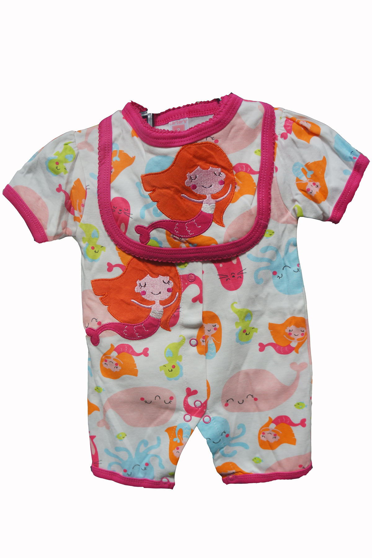 Little Mermaid Baby Romper Bib end 10 24 2019 11 02 PM