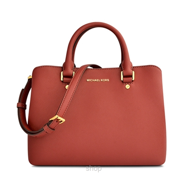 ... coupon code for michael kors savannah medium saffiano leather satchel  bag in brick. u2039 u203a c2b3ff3495
