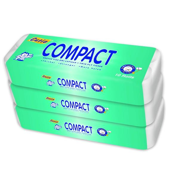[Monthly Promotion ]CUTIE COMPACT Toilet Tissue 1.8 kg x 3 x 10roll