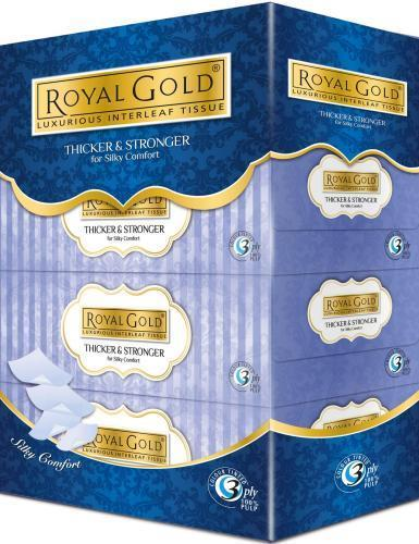 [Monthly Promotion]ROYAL GOLD Luxurious Facial Tissues 4x80s x 3 pkt