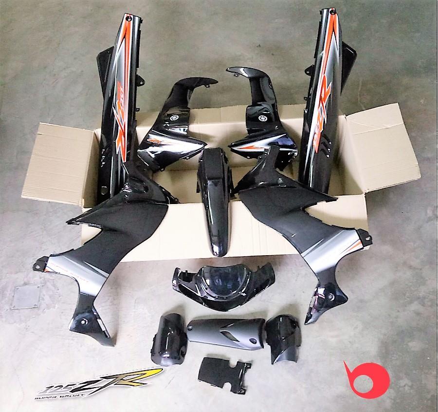 Motor Cover Set 125zr Black Premium  End 1  14  2019 5 15 Pm