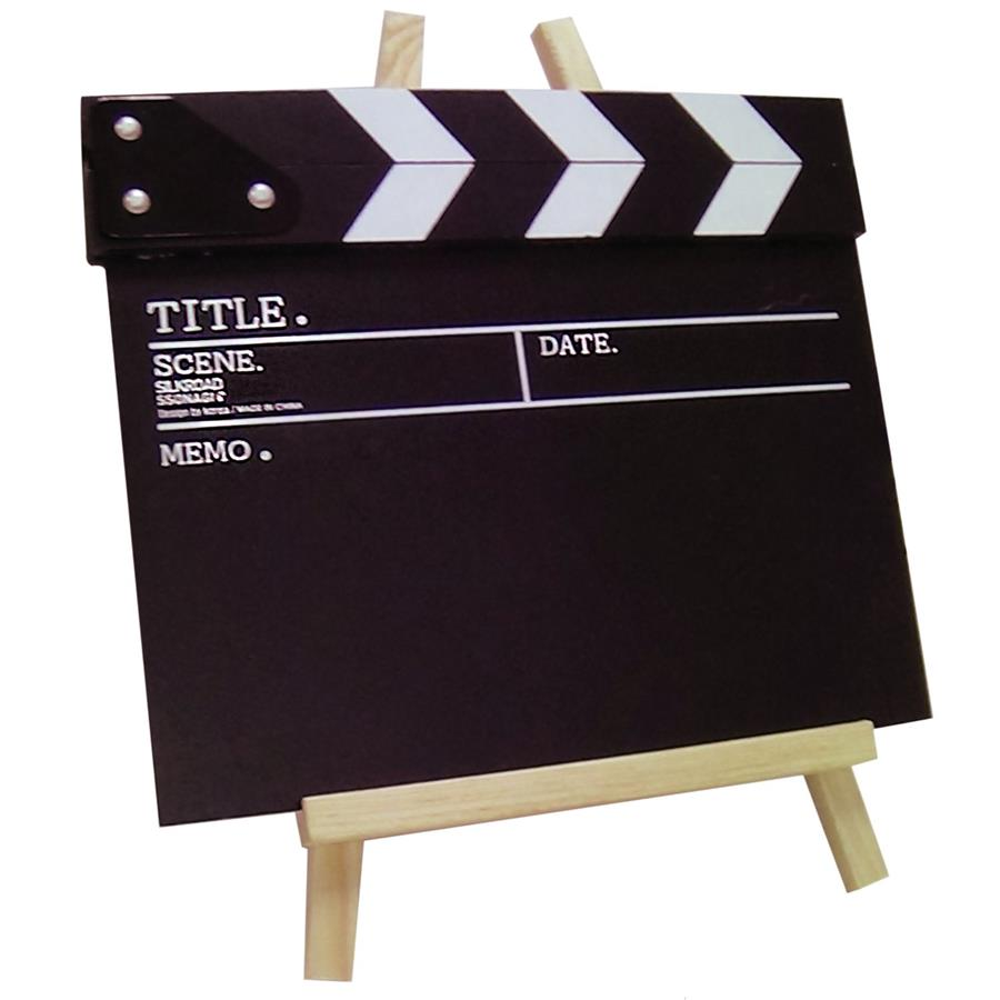 Movie Director Slate / Clapper Board with Stand, chalk, eraser