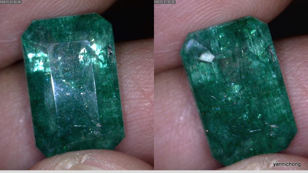 NATURAL ZAMBIA GREEN EMERALD 8 CARATS