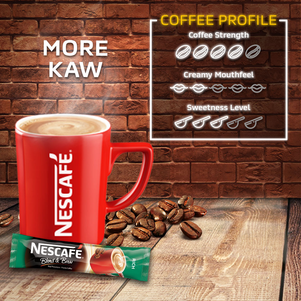 NESCAFE Blend and Brew Rich 19g, Buy 1 Free 1 Munchy's LEXUS 5packs