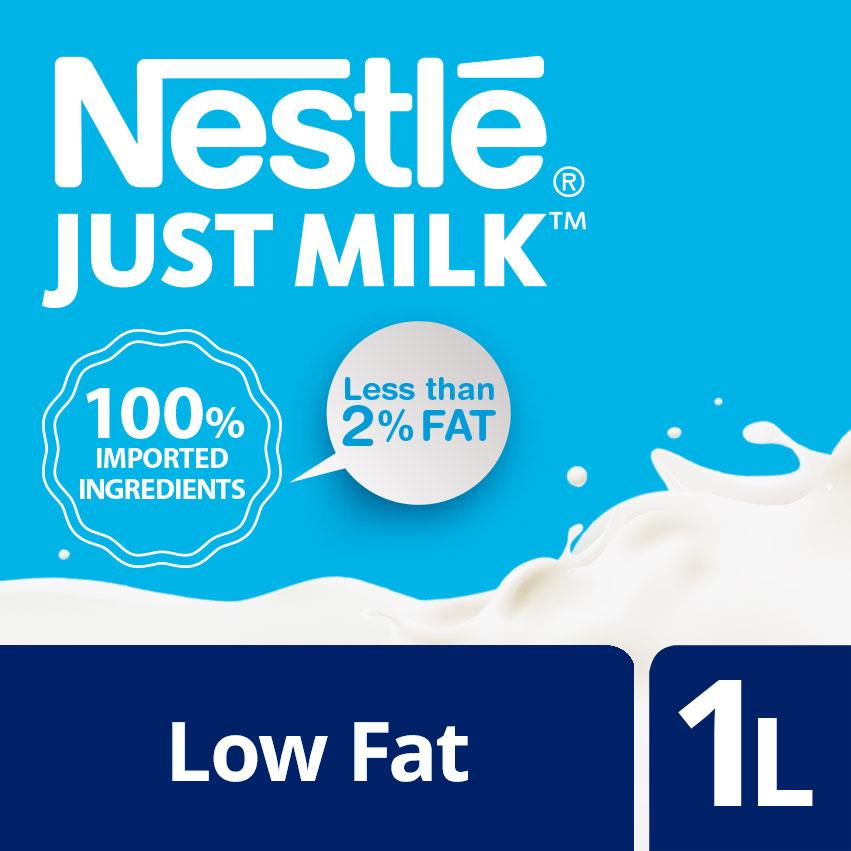 NESTLE JUST MILK Low Fat Milk 1L (SPECIAL OFFER)