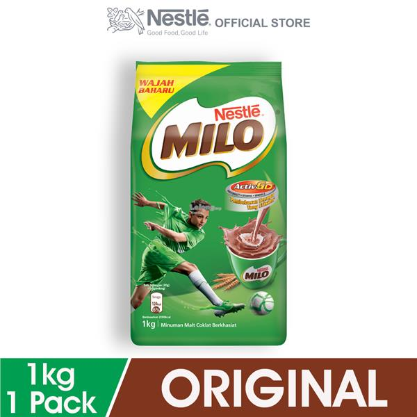 NESTLE MILO ACTIV-GO CHOCOLATE MALT POWDER Softpack 1kg. ‹ ›