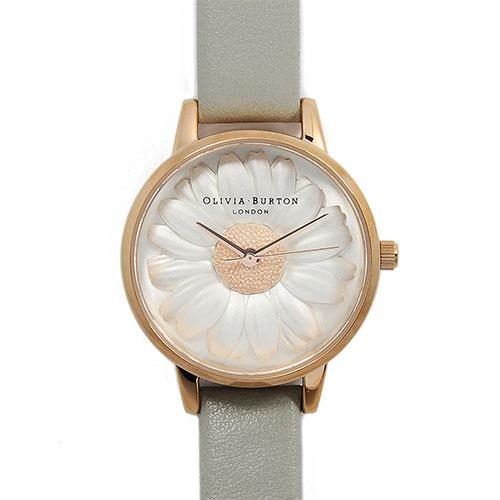 Olivia Burton Flower Show Moulded Daisy Grey & Rose Gold