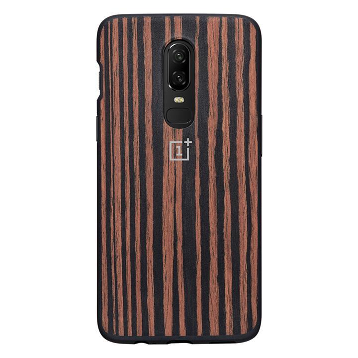 new styles 61cb0 f0057 OnePlus 6 Ebony Wood Bumper Case