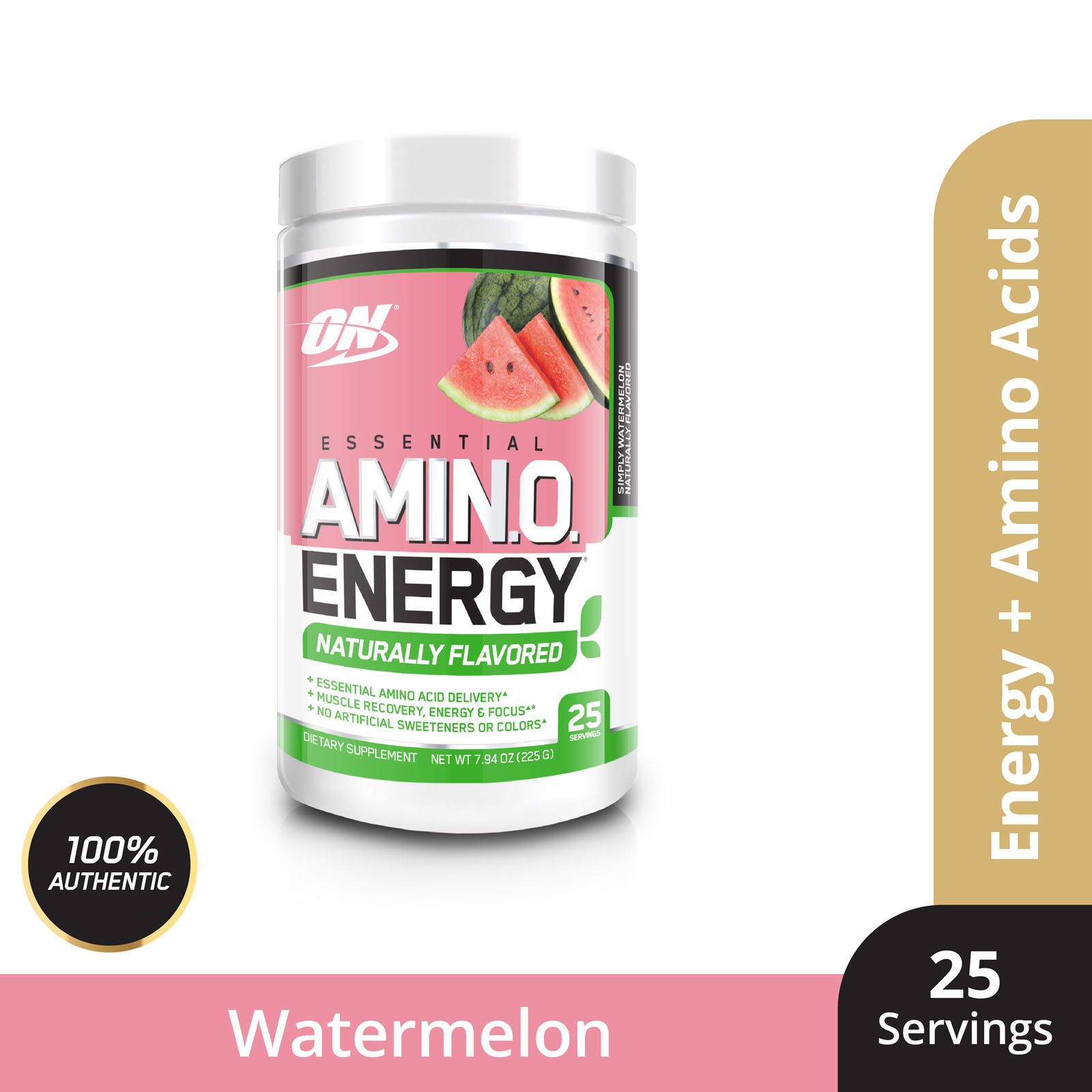 Optimum Nutrition Amino Energy Natural Flavour 225g - Simply Watermelo