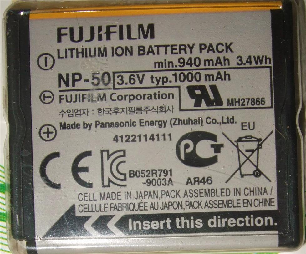 Original Fujifilm Finepix NP-50 / NP-50A Camera Li-ion Battery NP50
