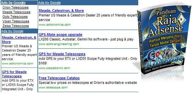 Panduan RAJA ADSENSE ,Rahsia Jana Wang Tanpa Modal Google Adsense RM99