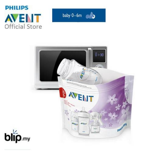 Philips Avent Microwave Steam Sterilizer Bags 5 Pcs Scf297 05 Scf2
