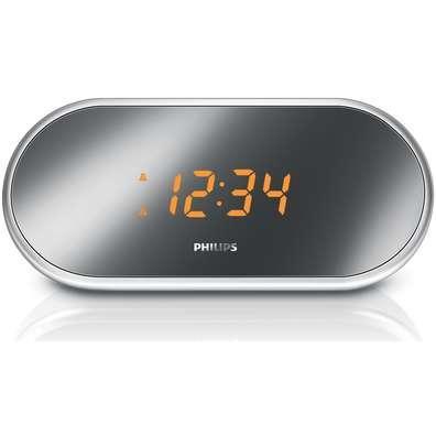 Philips Compact Alarm Clock Radio Mirror-finished Display