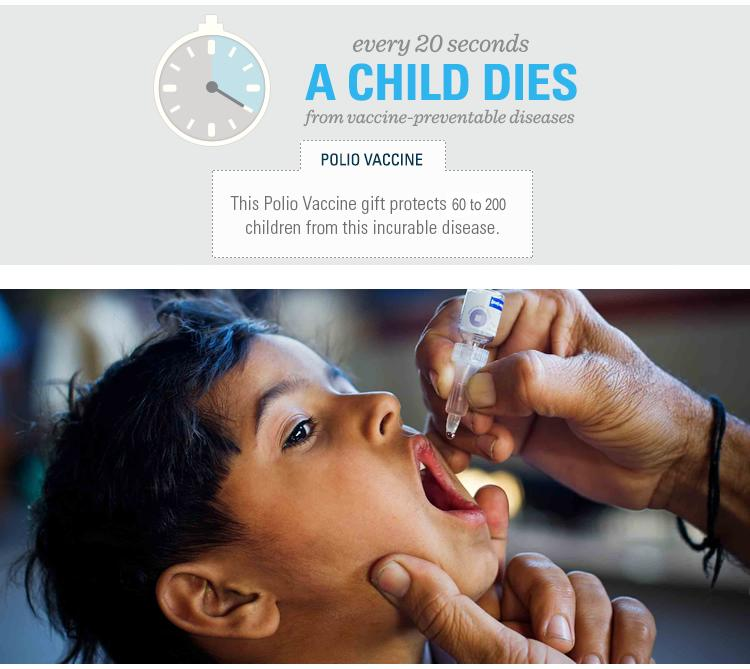 Polio Vaccines donation for UNICEF