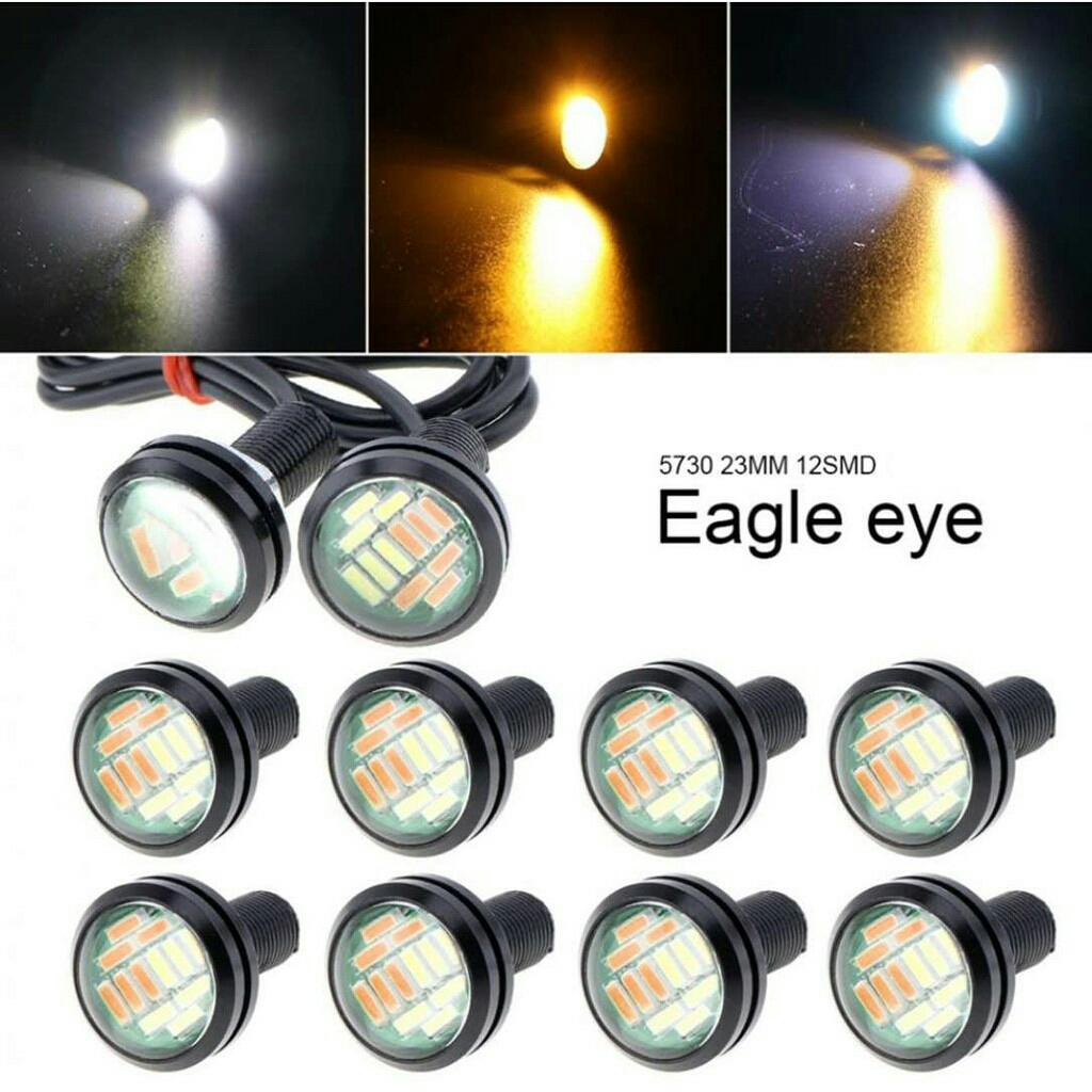 Popular 2 Pcs 23mm Eagle Eye 12 LED High Power