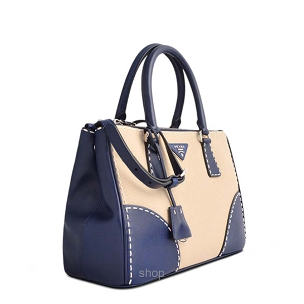 ad417107fdc6 ... shopping bn2106 corinto nylon and leather shoulder bag tradesy b6fca  68239; coupon for prada blue tessuto saffiano tote bag in corda royal 28735  f911e