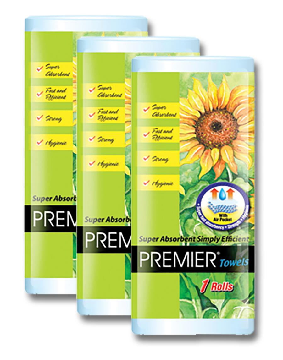 Premier Kitchen Towel 75's x 1 Rolls x 3 pkts