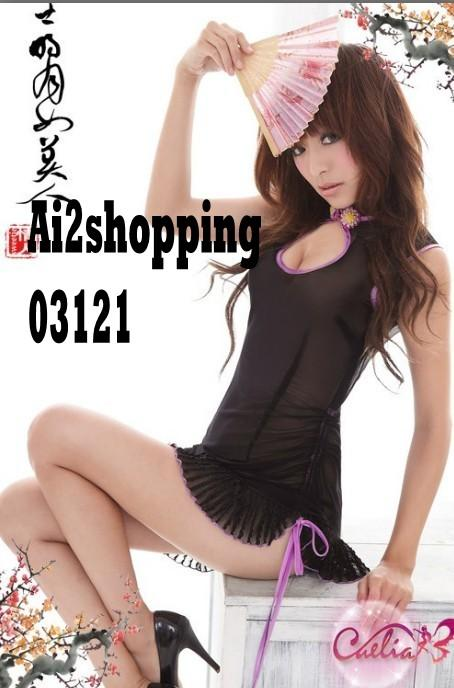 Pretty Woman Lingerie sexy qipao+ G-string 03121