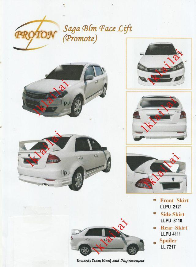 Proton Saga BLM FL PU Body Kit Prom (end 7/19/2018 11:21 AM)