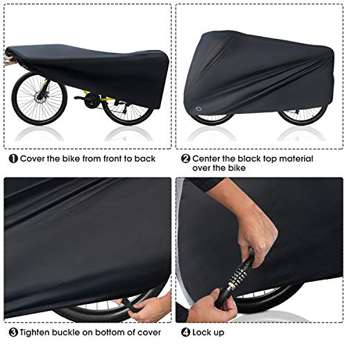 Puroma Bike Cover, 210D Outdoor Waterproof Bicycle Covers Rain Sun UV Dust Win