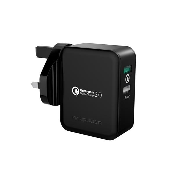 RAVPower 30W Turbo Wall Charger + Fast Charger with Quick Charge 3.0