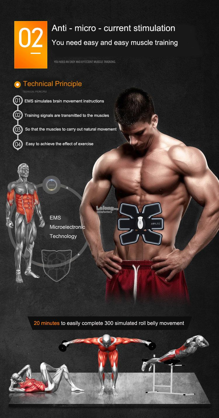 Hot Muscle Training Body Sixpack Fitness Set ABS Electrical Muscle Simulation 03