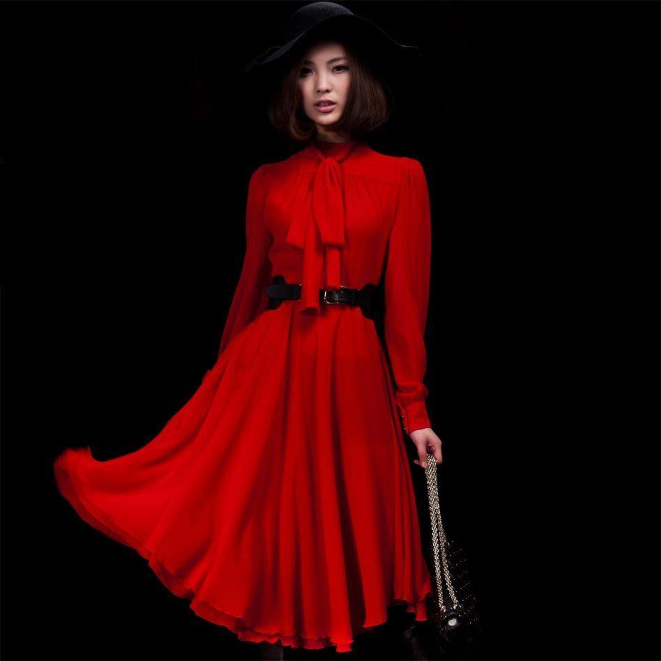 Фото платье шифоновое с бантом