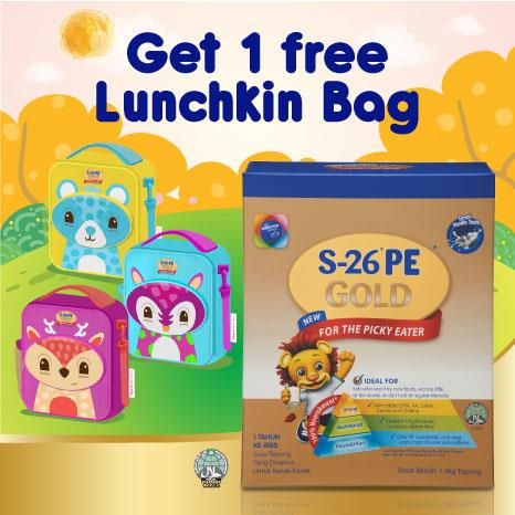 S-26 PE Gold (1.4kg) Free Lunch Bag