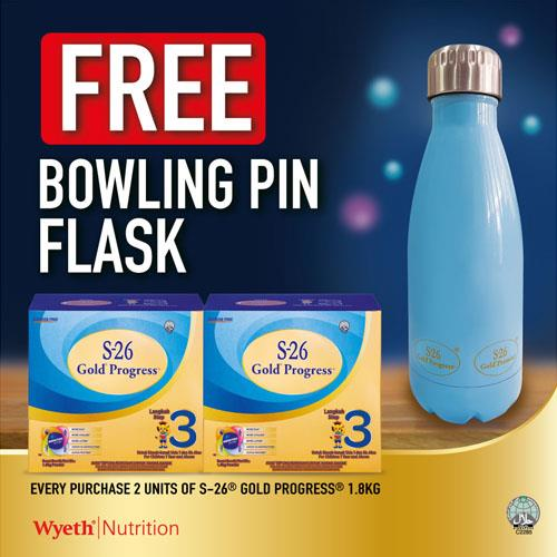 S26 GOLD PROGRESS 1.8KG x 2 Free Bowling Flask (while stocks last)