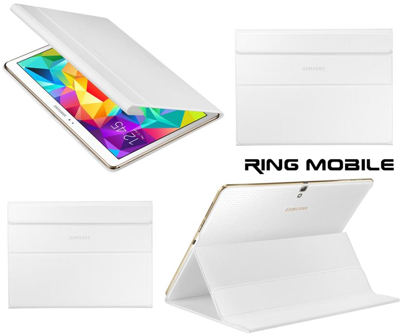 Tab S Book Cover White : Samsung galaxy tab s book cover end pm