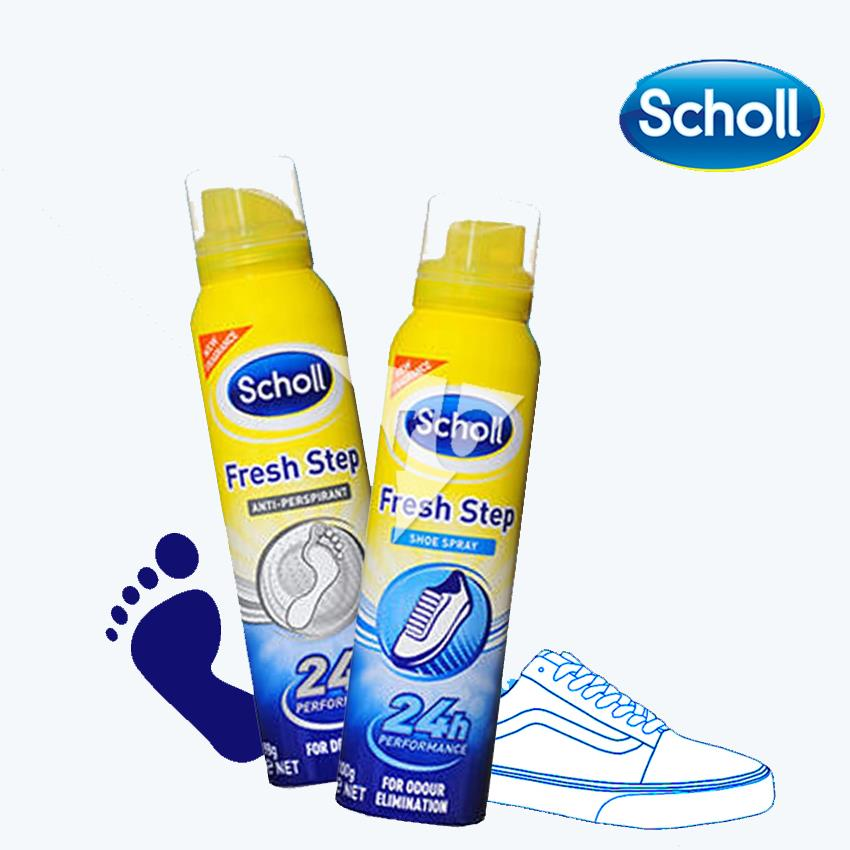 Scholl Fresh Step Anti Perspirant Spray for Dry Feet 150ML