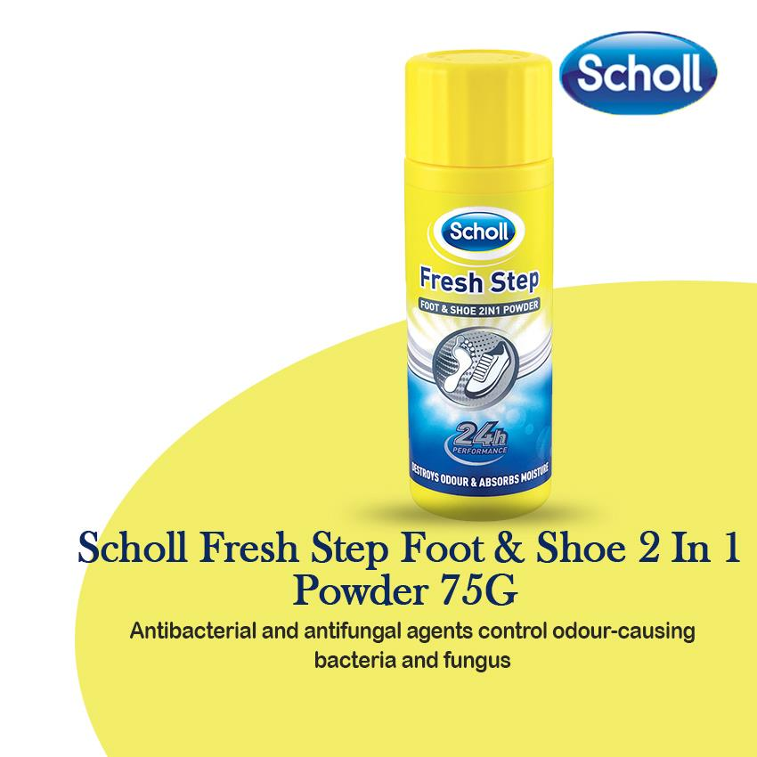 Scholl Fresh Step Foot & Shoe 2In1 Powder 75g