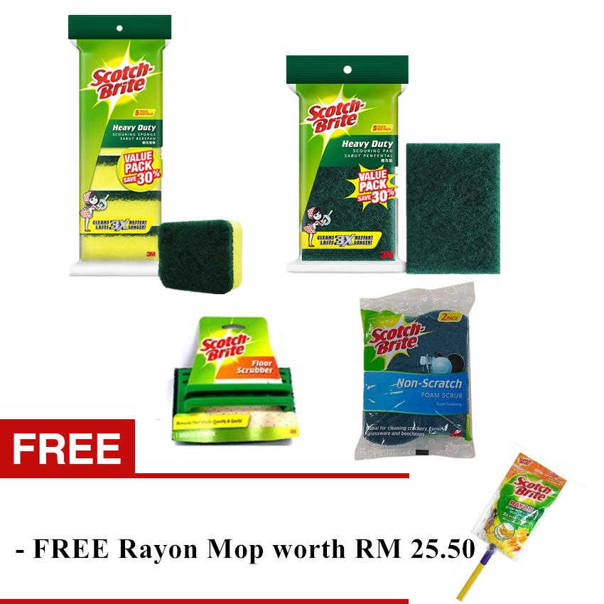 Scotch-Brite Scouring Set (with FREE Rayon Mop)