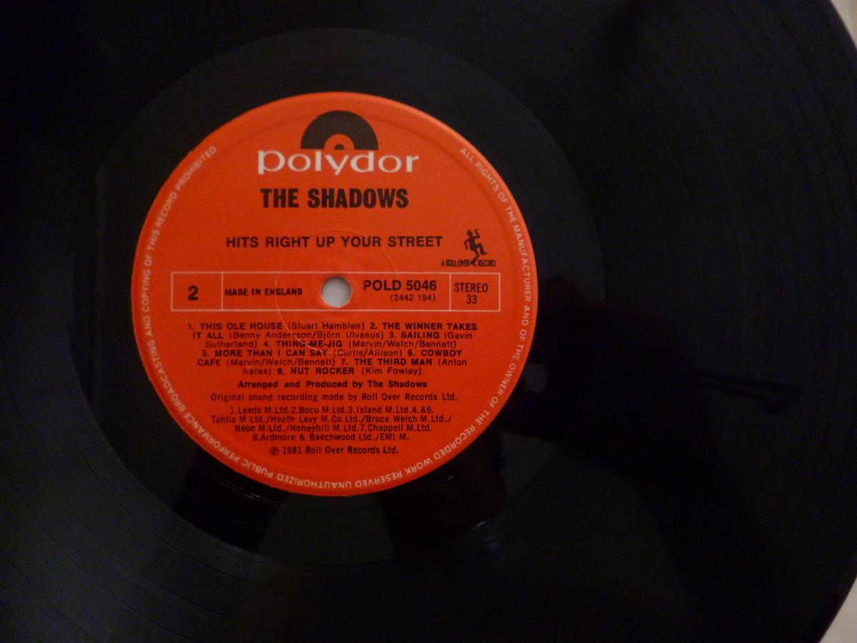 THE SHADOWS VINTAGE VINYL RECORD