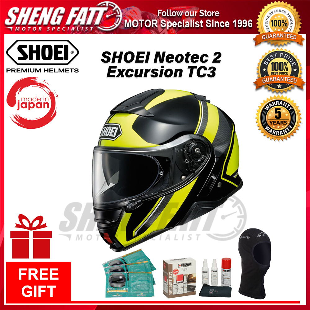 525f9857 SHOEI NEOTEC 2 EXCURSION TC3 - FLIP FACE HELMET with Gift [ORIGINAL]