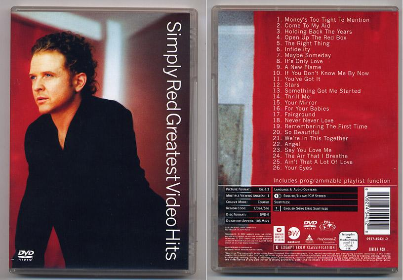 Simply Red 'Greatest Video Hits' DVD