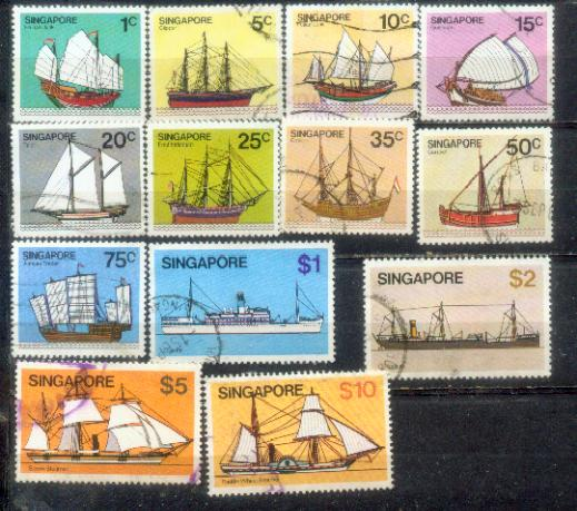 <B>Singapore 1980 Ship Definitive complete set  up to $10</B>
