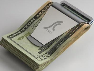 Slim Double Sided Money / Credit Card Clip