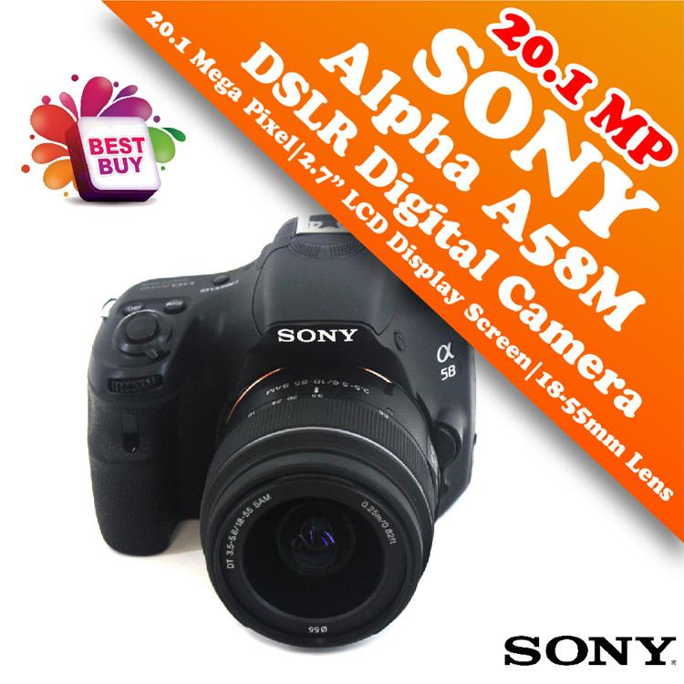 Sony Alpha A58M 20.1MP Digital SLR Camera with 18-55mm Lens Great Deal