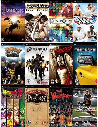 SONY PLAY STATION PORTABLE PSP GAMES - CHOOSE 10 GAME FOR ONLY RM30