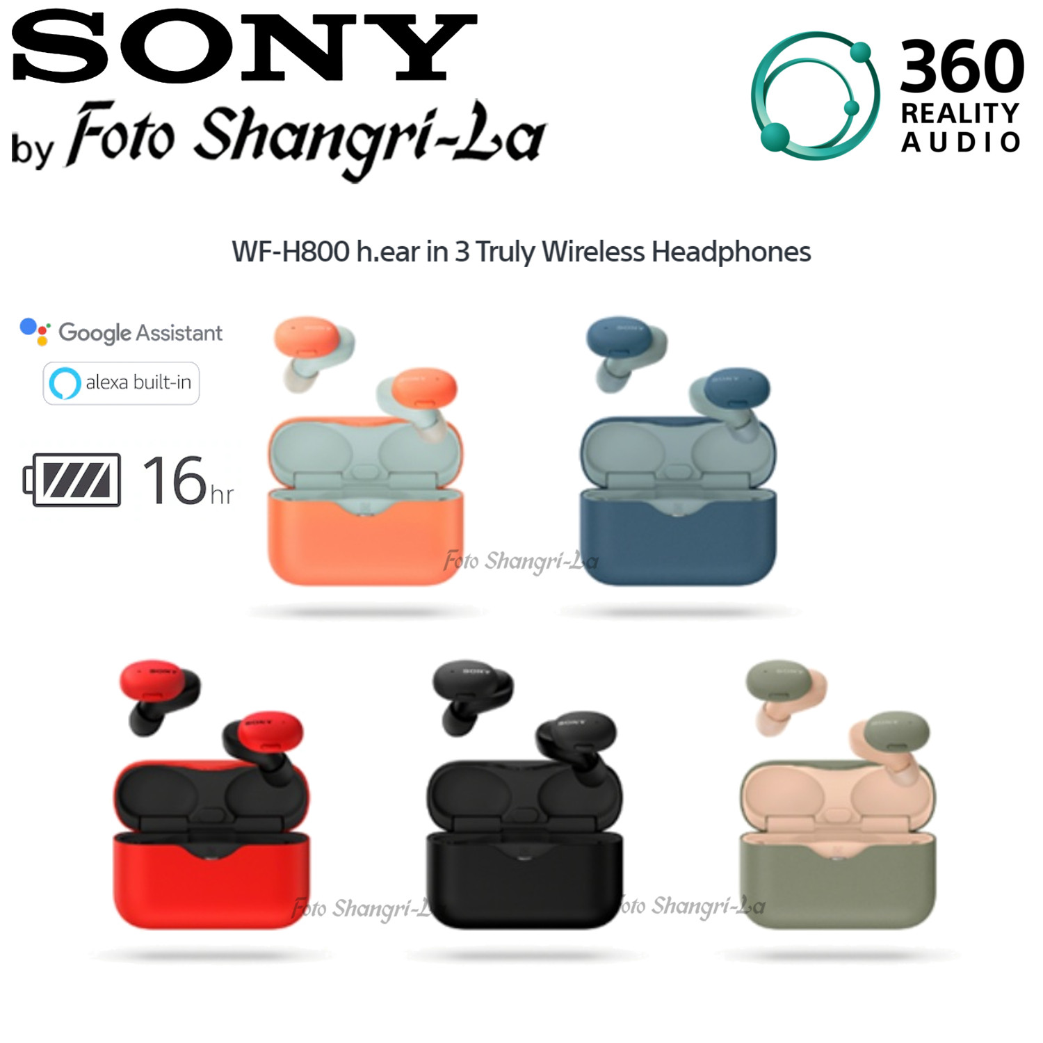 Sony WF-H800 h.ear in 3 Truly Wireless Earbuds 360 Reality Headphones